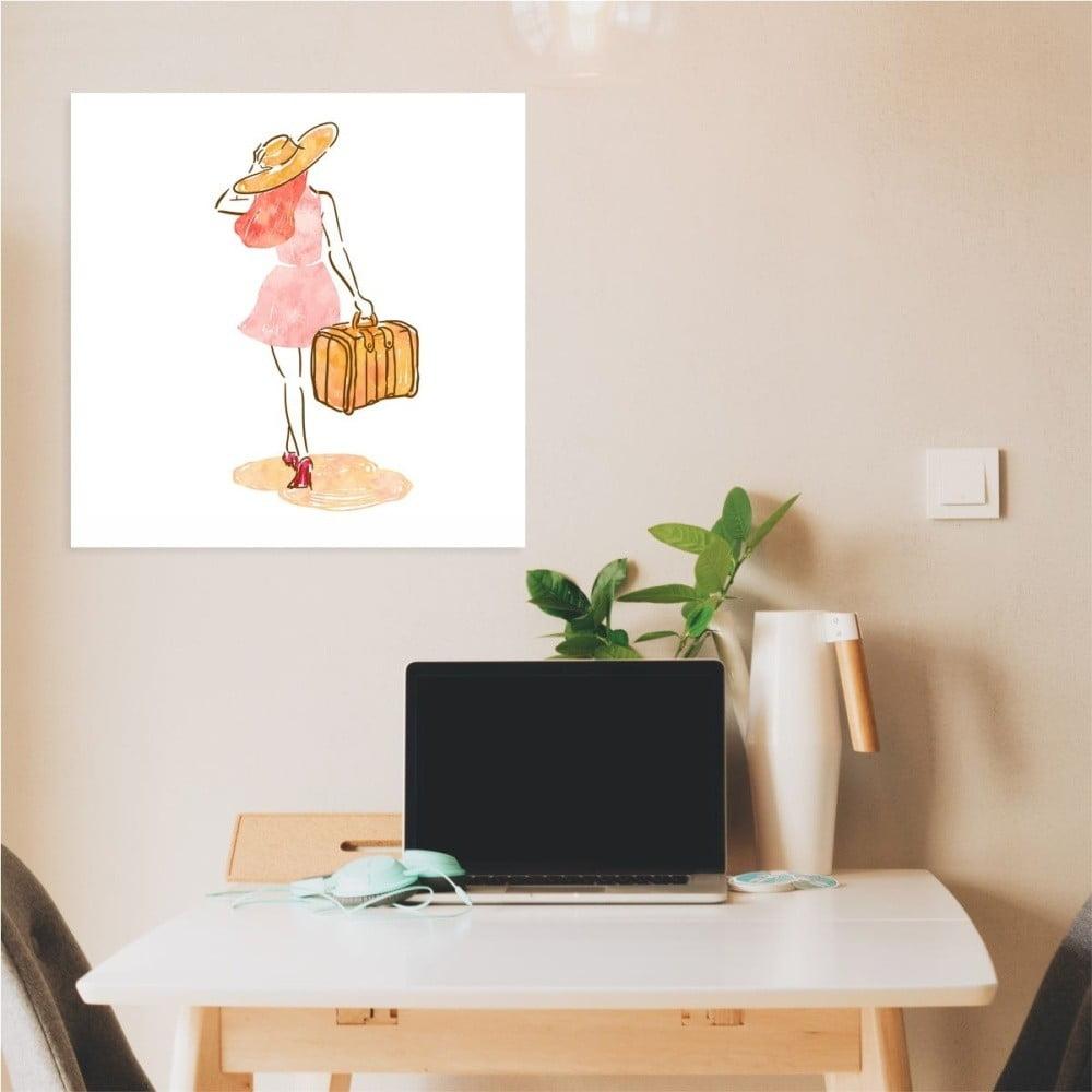 Nástěnný samolepicí obraz North Carolina Scandinavian Home Decors Girl V1, 30 x 30 cm