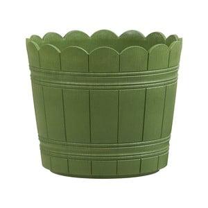 Vysoce odolný květináč Country 24 cm, zelený