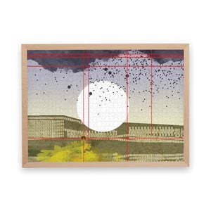 Puzzle z recyklovaných materiálů v bukovém rámu Pucle Stadttraum, 1000dílků