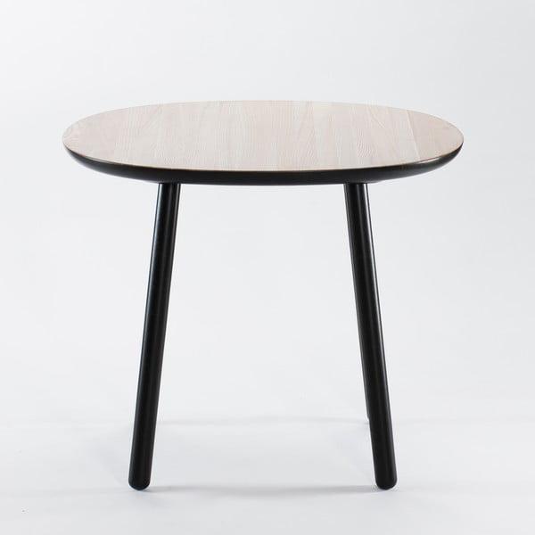 Černo-bílý jídelní stůl z masivu EMKO Naïve, 90 cm