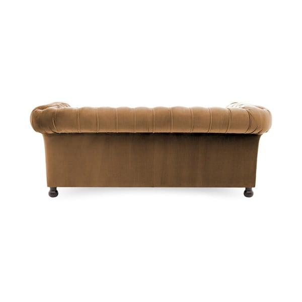 Canapea 3 locuri Vivonita Chesterfield, maro