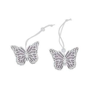 Sada 2 závěsných dekorací ve tvaru motýla Ego Dekor Fly