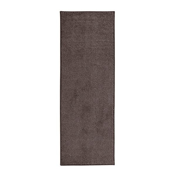 Antracitovosivý behúň Hanse Home Pure, 80 × 200 cm