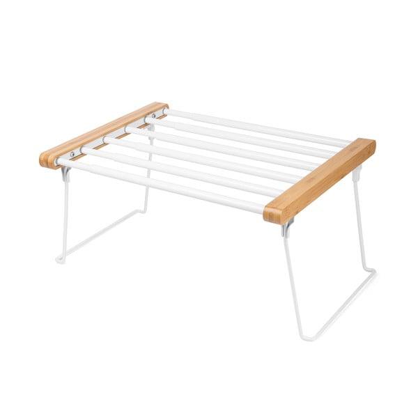 Biela nastaviteľná polička do skrine na oblečenie Compactor Extandable Shelf Rack