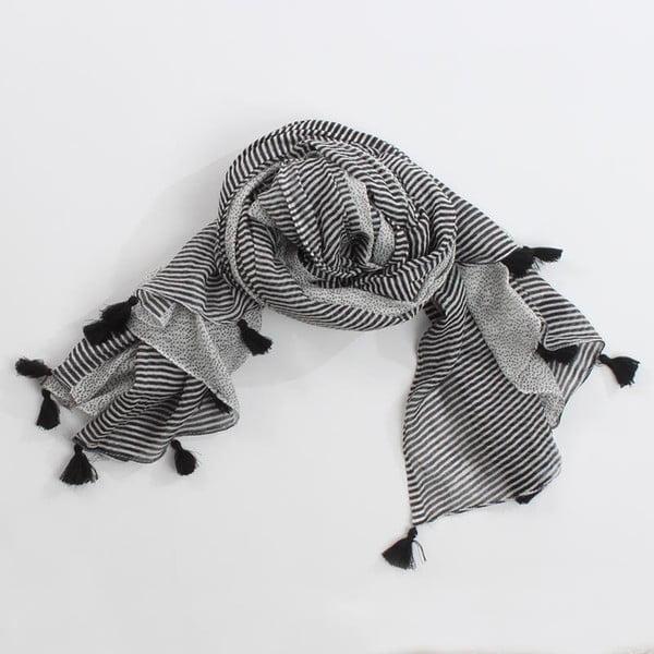 Šátek, černobílé pruhy