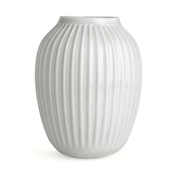 Bílá kameninová váza Kähler Design Hammershoi,výška 25 cm