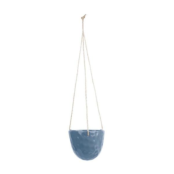 Modrý keramický závěsný květináč PT LIVING Burly