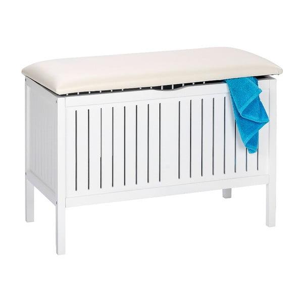 Biała ławka ze schowkiem Wenko Oslo