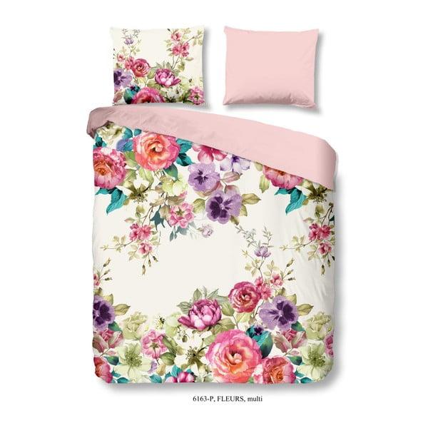 Bavlnené obliečky Good Morning Fleurs, 140 × 200 cm