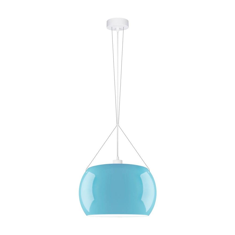 Modré lesklé závěsné světlo Sotto Luce MOMO Elementary 1S