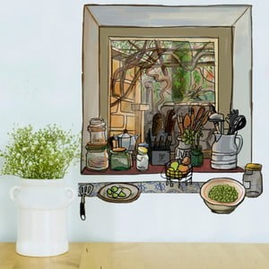 Samolepka Chispum Kitchen Window