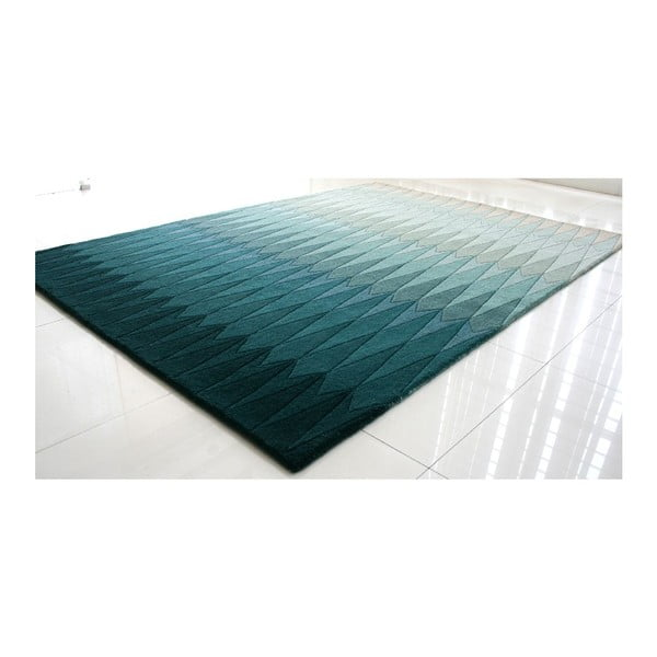 Vlněný koberec Acacia Petrol, 170x240 cm