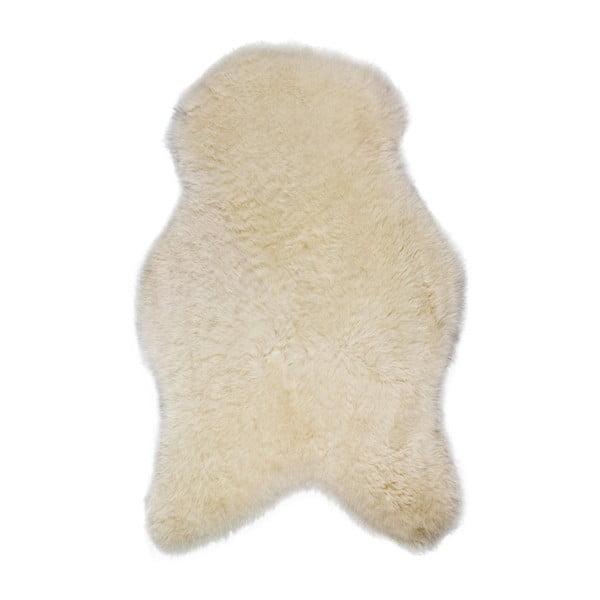 Blană de oaie cu fir scurt, 100 x 55 cm, alb