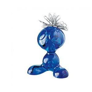 Modrý plastový stojánek na kancelářské sponky Koziol