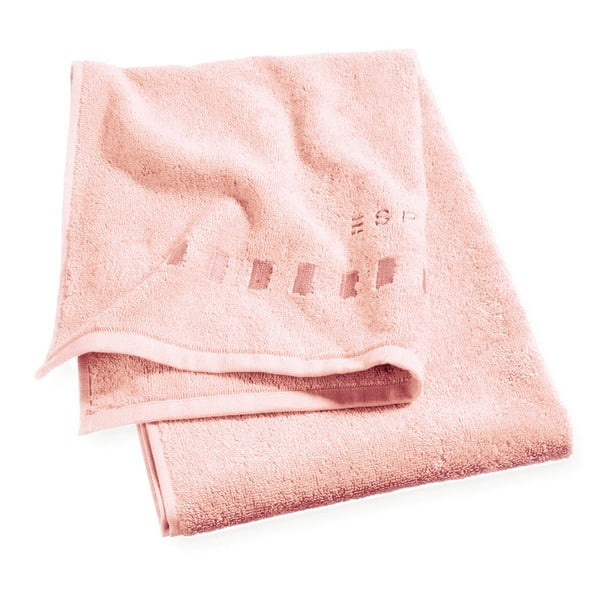 Ručník Esprit Solid 50x100 cm, růžový