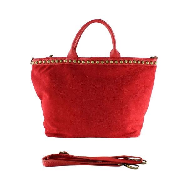 Kožená kabelka Skull, červená