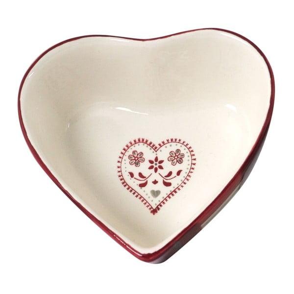 Hluboký talíř Antic Line Heart Shape
