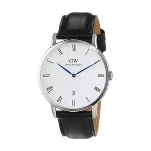 Dámské hodinky s černým páskem Daniel Wellington Sheffield Silver, ⌀34mm