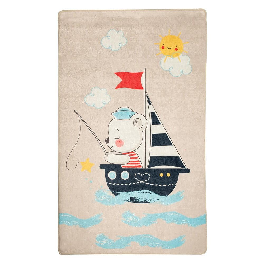 Dětský protiskluzový koberec Chilai Sailor,140x190cm