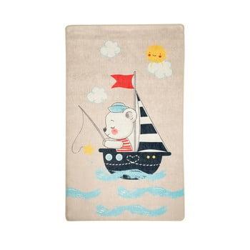 Covor antiderapant pentru copii Chilai Sailor,100x160cm
