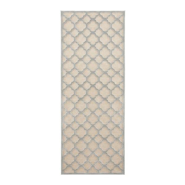 Covor Mint Rugs Shine Mero, 80 x 250 cm, gri-crem