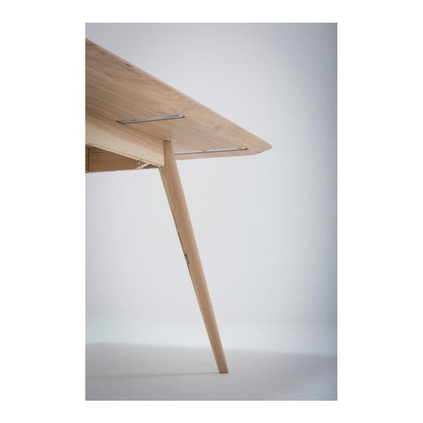 Masă cu structură din lemn masiv de stejar Gazzda Stafa, 180 x 90 cm