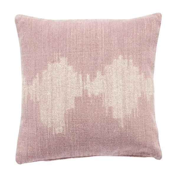 Růžový bavlněný polštář Hübsch Fluctus, 50x50cm