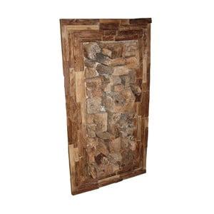 Nástěnná dekorace z teakového dřeva HSM Collection Rustic,110cm