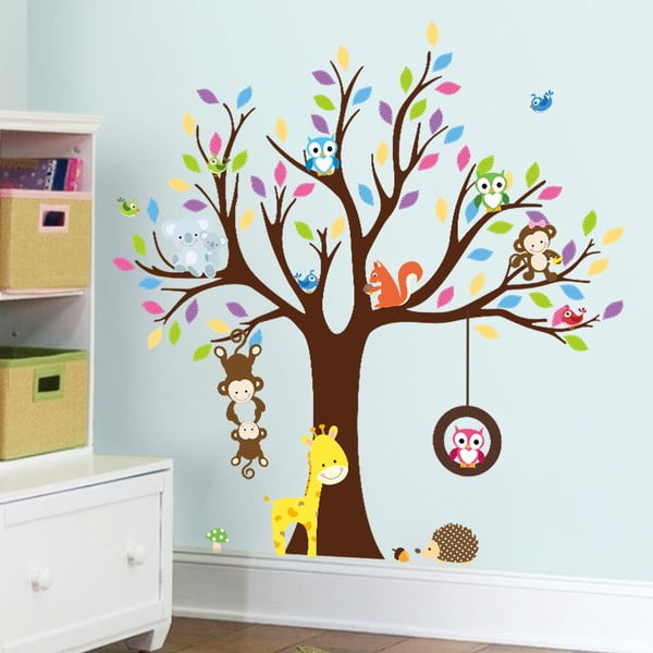 Set autocolante Ambiance Tree with Animals