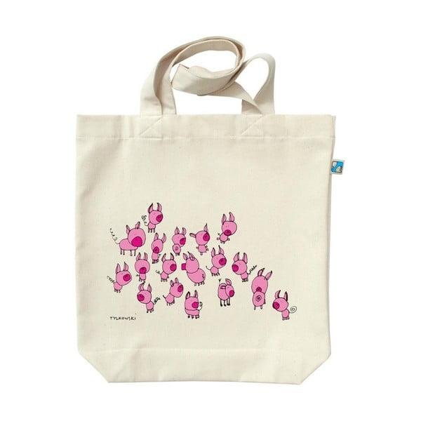 Plátěná taška Růžovoučtí