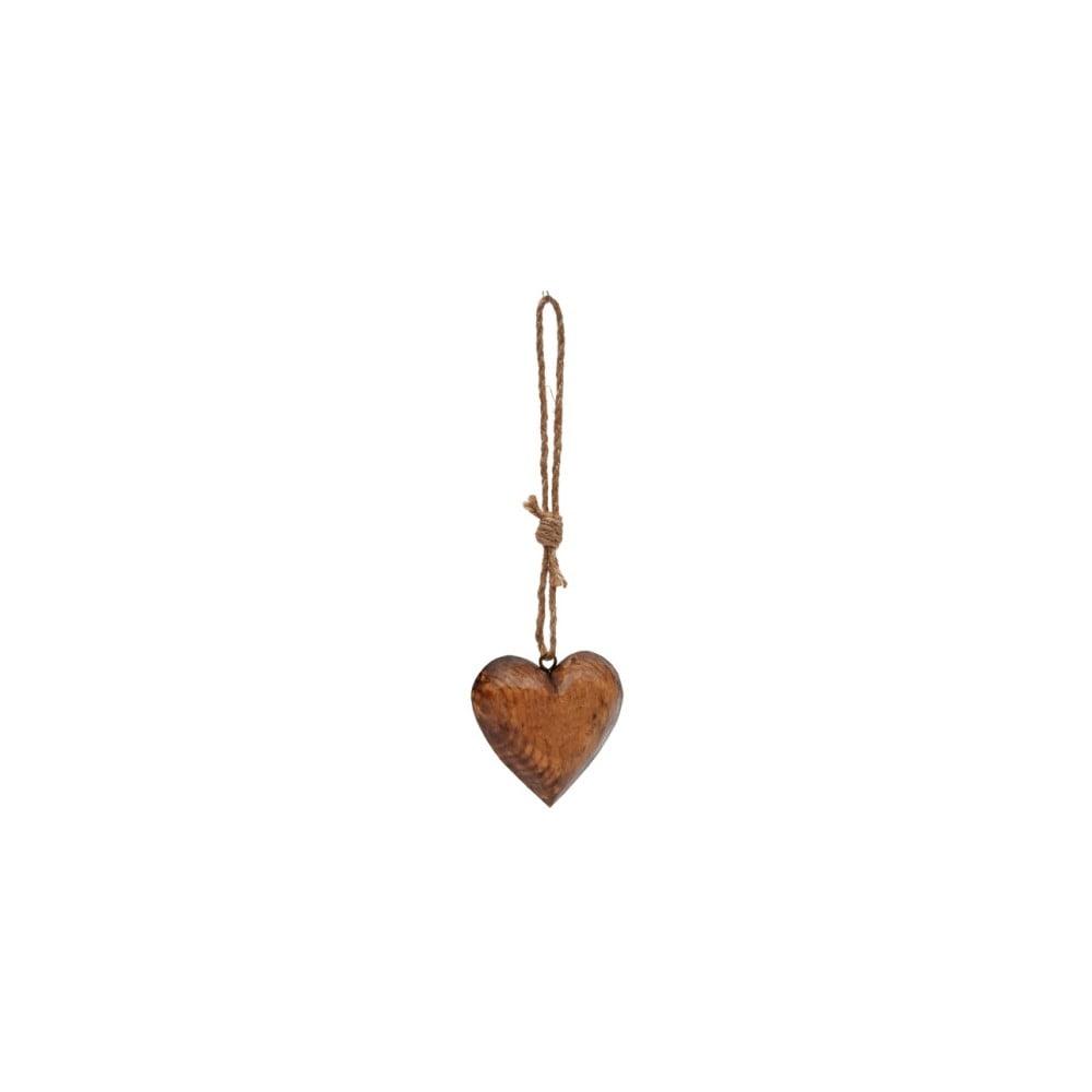 Závěsná dřevěná dekorace srdce Antic Line
