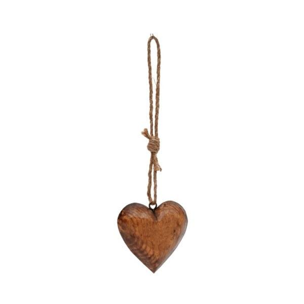 Decorațiune suspendată din lemn Antic Line Heart