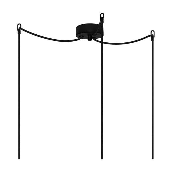 Černé závěsné svítidlo se 3 kabely Bulb Attack Uno Basic