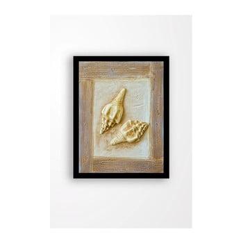 Tablou pe pânză în ramă neagră Tablo Center Treasure, 29 x 24 cm de la Tablo Center