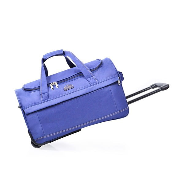 Niebieska torba podróżna na kółkach Matilda, 43 l