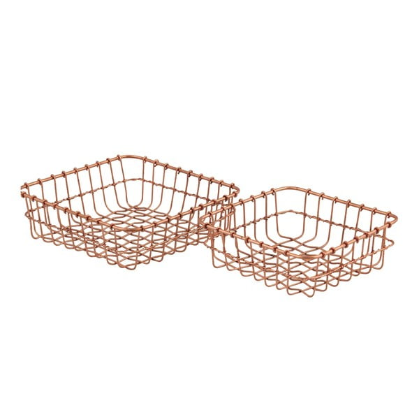 Sada 2 košíků Cosmopolitan Copper