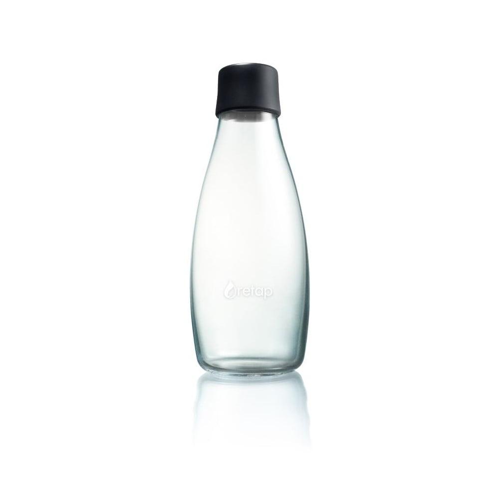 Černá skleněná lahev ReTap s doživotní zárukou, 500 ml