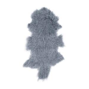 Tmavě modrá ovčí kožešina s dlouhým chlupem Arctic Fur Hyggur, 85x50cm