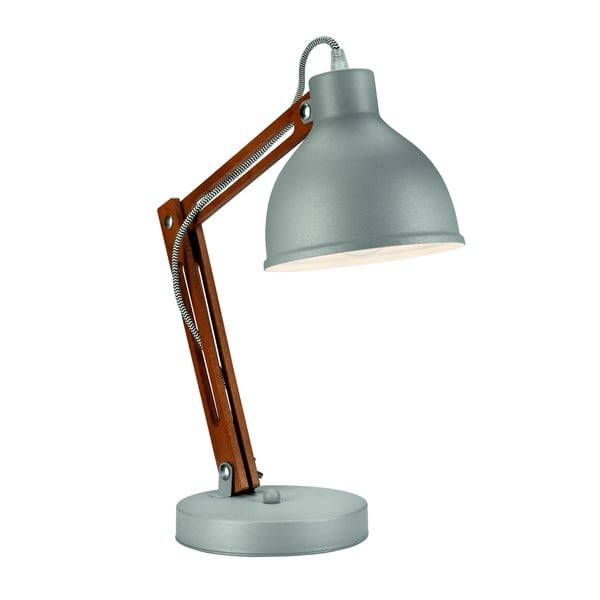 Šedá stolní lampa Lamkur Marcello