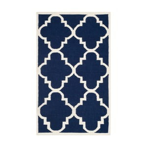 Modrý vlněný koberec Safavieh Alameda, 91x152cm