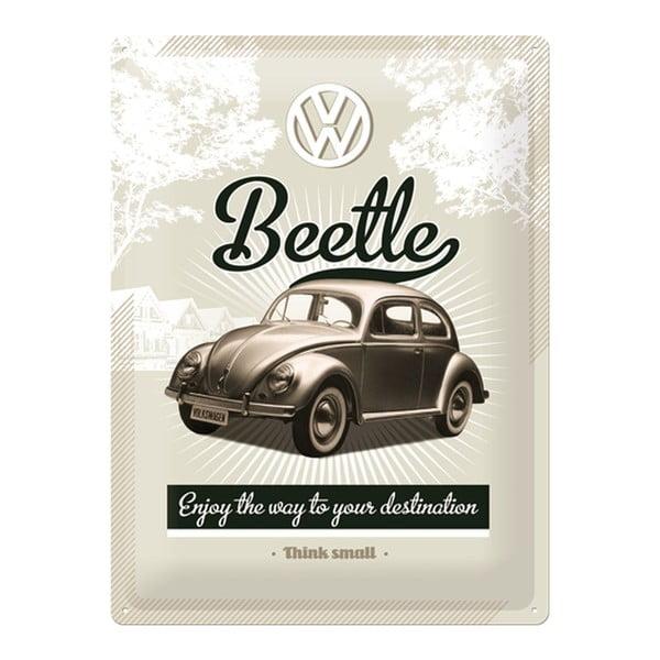 Plechová cedule Beetle, 30x40 cm