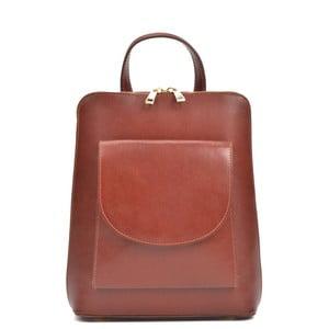 Hnědý kožený batoh Anna Luchini Songe