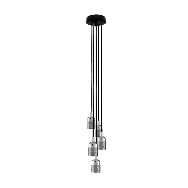 Pět závěsných kabelů Uno Group, stříbrná/černá/černá