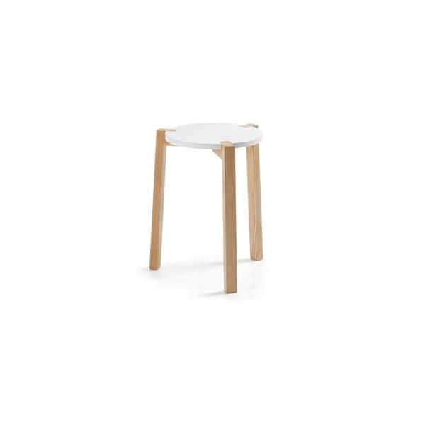 Bílý odkládací stolek La Forma Elroy