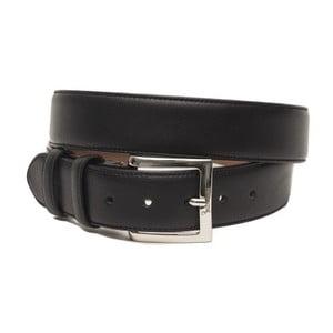 Černý pánský kožený pásek Billionaire David, délka 110 - 125 cm