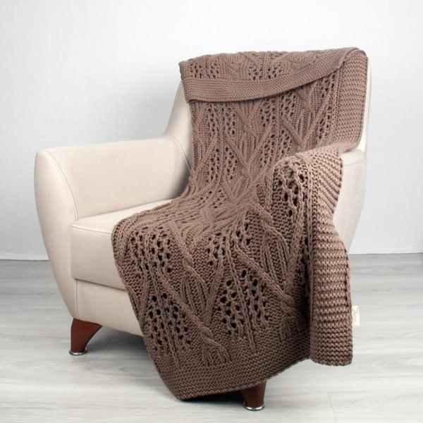 Hnědá deka Homemania Tuti,170x130cm