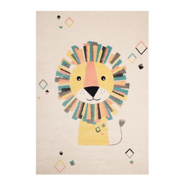 Béžovokrémový dětský hnědý koberec Zala Living Lion,120x170cm