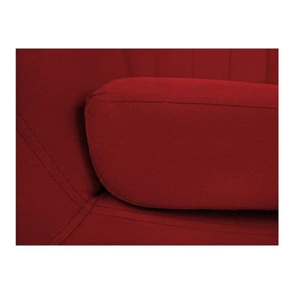 Červené křeslo se světlými nohami Mazzini Sofas Sardaigne