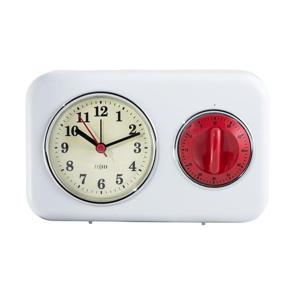 Kuchyňské hodiny s minutkou White Vintage