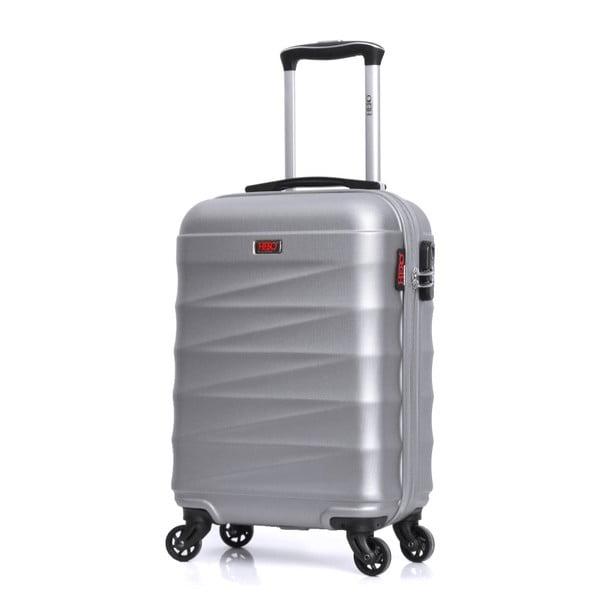 Cestovní kufr ve stříbrné barvě na kolečkách Hero Wave, 32 l